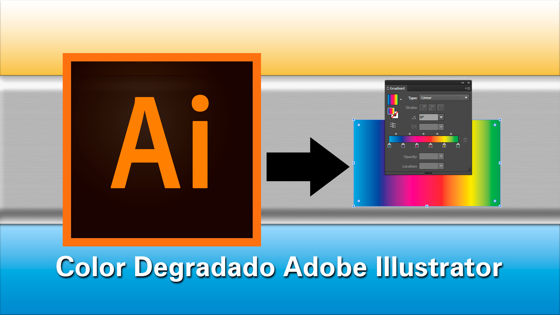 Como usar el color degradado en Adobe Illustrator