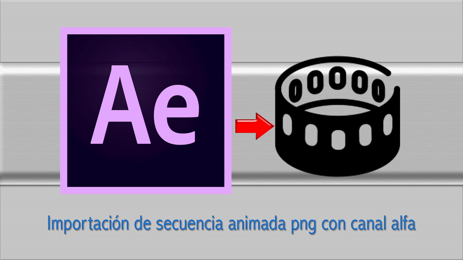 Adobe After Effects video tutorial: importación de secuencia animada png con canal alfa