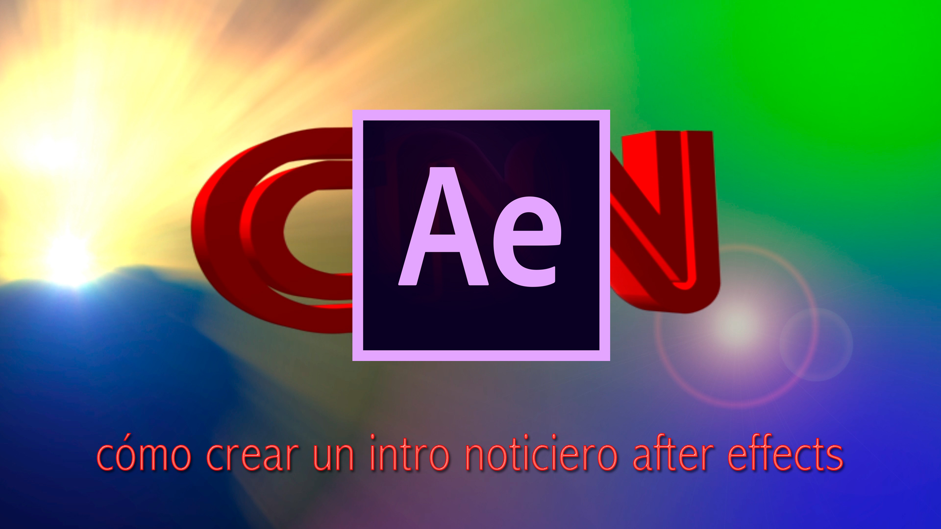 Videotutorial Adobe After effects: cómo crear un intro noticiero after effects - archivo editable