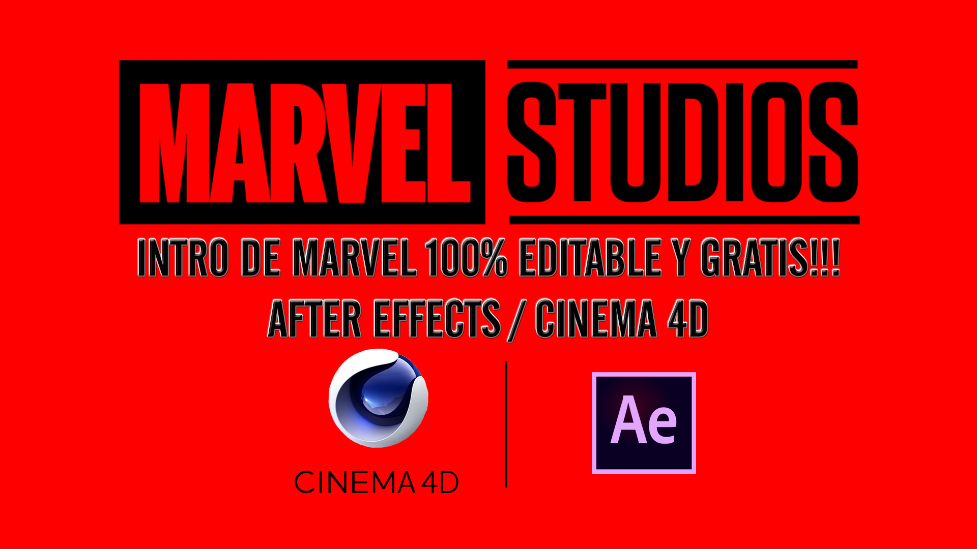 INTRO DE MARVEL STUDIOS 100% EDITABLE Y GRATIS!!!AFTER EFFECTS / CINEMA 4D [FUNCIONA] 👍